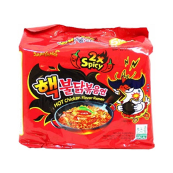 Samyang Hot Chicken Double Spicy Ramen Multipack 5 x 140g