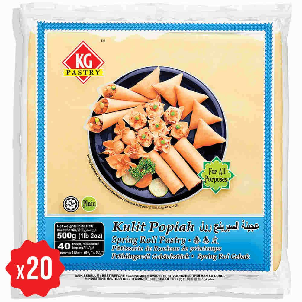 carton spring roll pastry 85 40 sheets x 20 packets