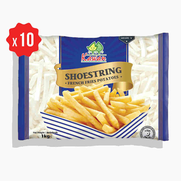 [Carton] Shoestring French Fries (1kg x 10 packets)