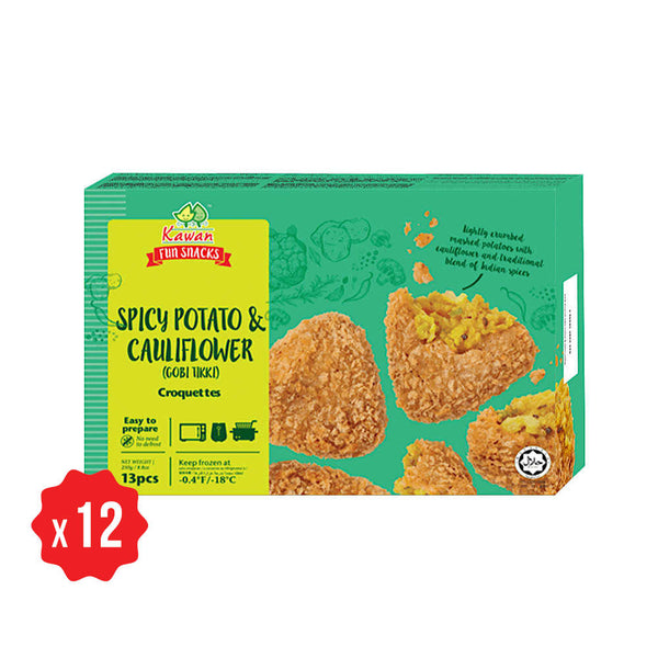 [Carton] Spicy Potato & Cauliflower (Gobi Tikki) Croquette (13 pcs x 12 packets)