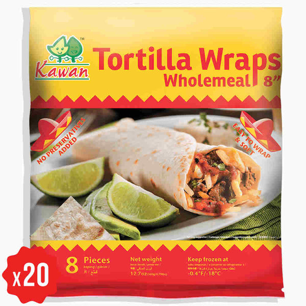 [Carton] Tortilla Wraps Wholemeal 8 (360g x 20 packets)