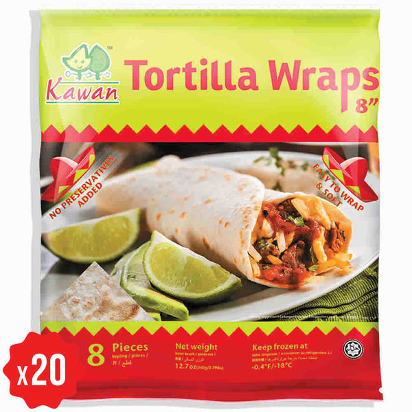 [Carton] Tortilla Wraps 8 (360g x 20 packets)