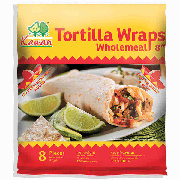 "Tortilla Wraps Wholemeal 8"" (8 pcs - 360g)"