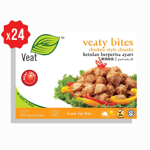[Carton] Veaty Bites Chicken Style Chunks (300g x 24 packets)