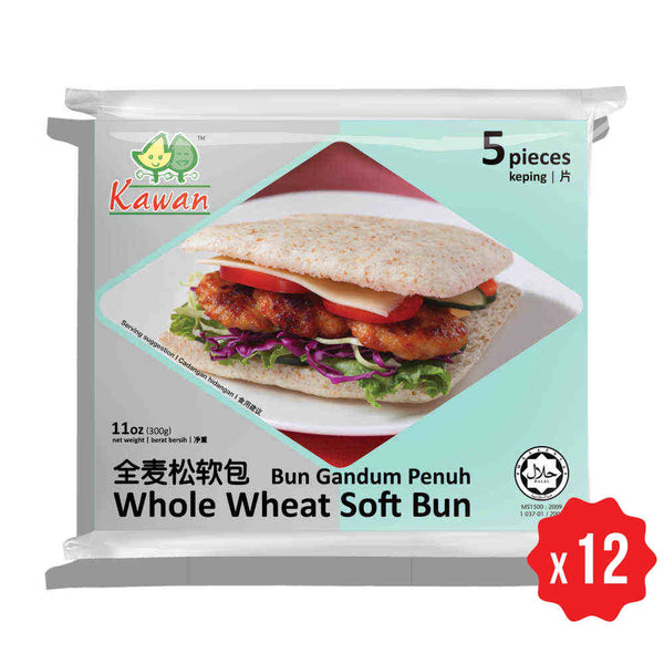 [Carton] Whole Wheat Soft Bun (5 pieces x 12 packets)