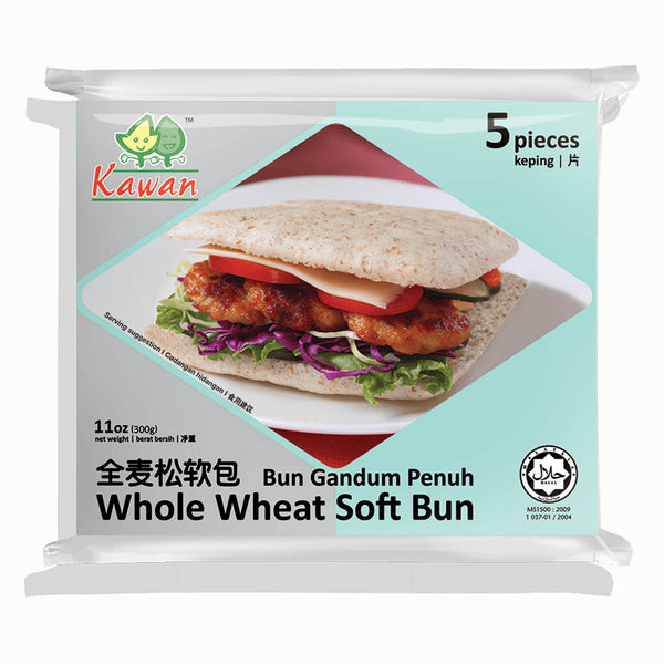 Whole Wheat Soft Bun (5 pcs - 300g)