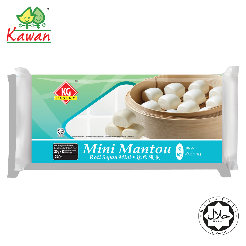 KG PASTRY Mini Mantou Plain (12 pcs - 240g)