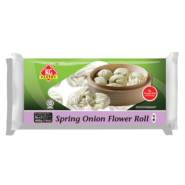 KG PASTRY Spring Onion Flower Roll (8 pcs - 400g)