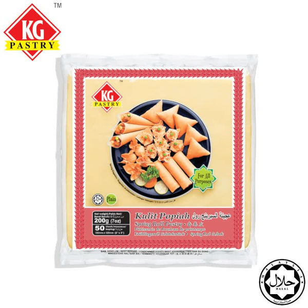 "KG PASTRY Spring Roll Pastry 5"" (50 pcs - 200g)"
