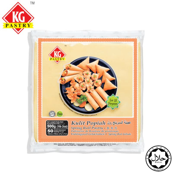 "KG PASTRY Spring Roll Pastry 7.5"" (50 pcs - 500g)"