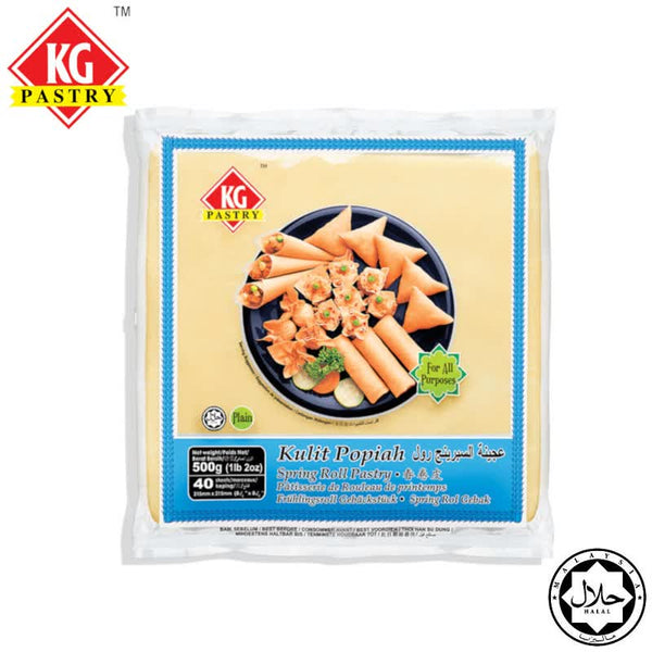 "KG PASTRY Spring Roll Pastry 8.5"" (40 pcs - 500g)"