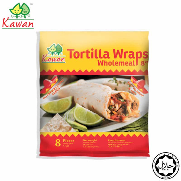 "KAWAN Tortilla Wraps Wholemeal 8"" (8 pcs - 360g)"