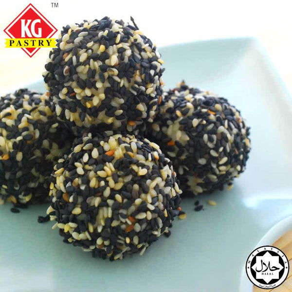 KG PASTRY Black Sesame Tang Yuan (Glutinous Rice Ball) 10 Pieces