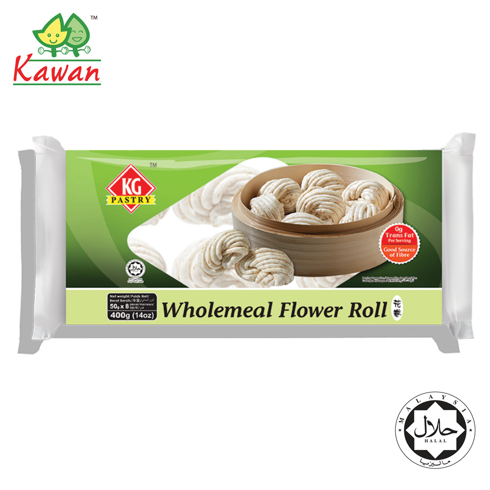 KG PASTRY Wholemeal Flower Roll (8 pcs - 400g)