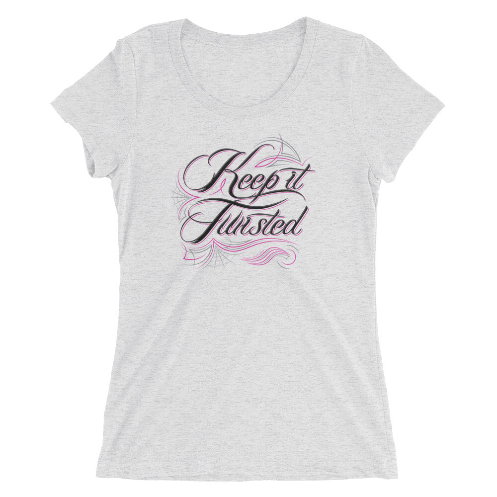 Keep it Twisted Pinstripe Women's Vintage T-Shirt
