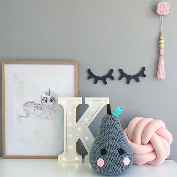 Luscious Lashes Wooden Wall Decor - friday kids co.