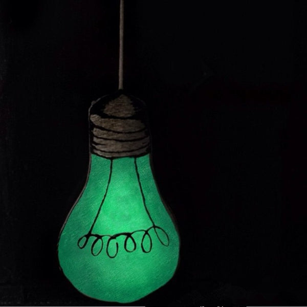 Glow-In-The-Dark Light Bulb Cushion - friday kids co.