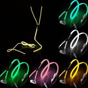 Glowing Zipper Earphones - friday kids co.