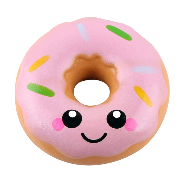 Happy Sprinkled Donut Squishy