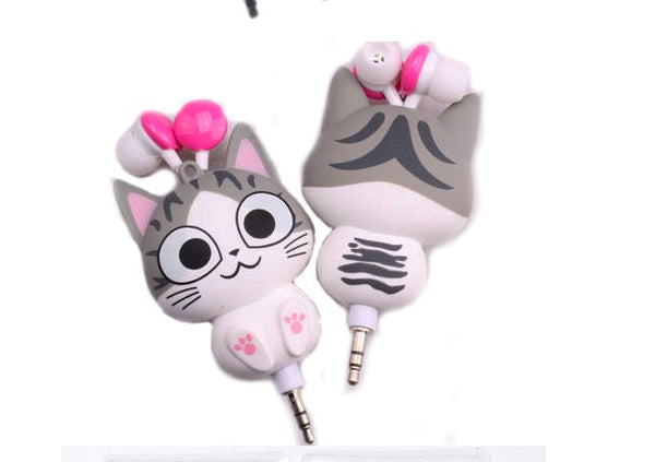Cutie Kitty Retractable Earphones - friday kids co.