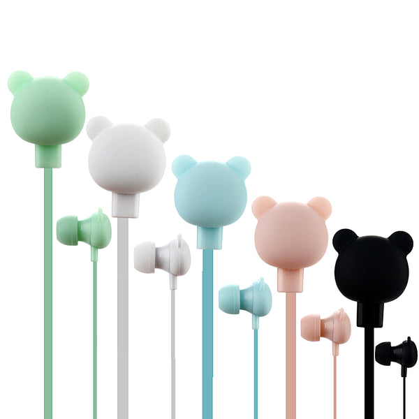 Bear-shaped earphones / headphones for children. Kids music and technology available at Friday Kids Co.