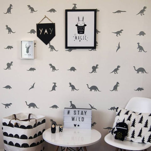 Dinosaur Silhouette Wall Stickers