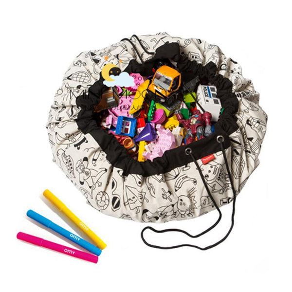 Color-Me-In Toy Storage Bag & Play Mat - friday kids co.