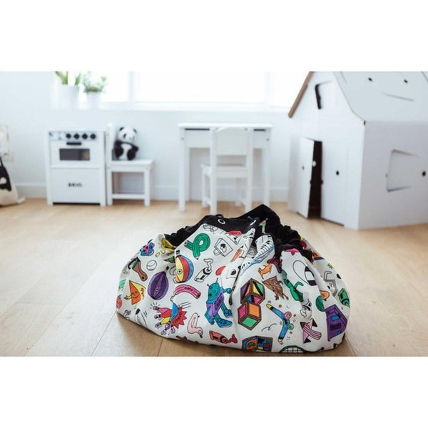 Color-Me-In Toy Storage Bag & Play Mat. Great for kids toys, bedrooms, play rooms and rumpus rooms. Available at friday kids co. fridaykidsco.com