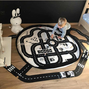 Race Car Track Storage Bag & Play Mat - friday kids co.