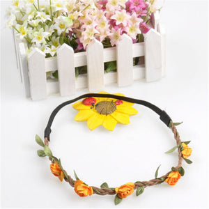 Boho Floral Crown Headband - friday kids co.