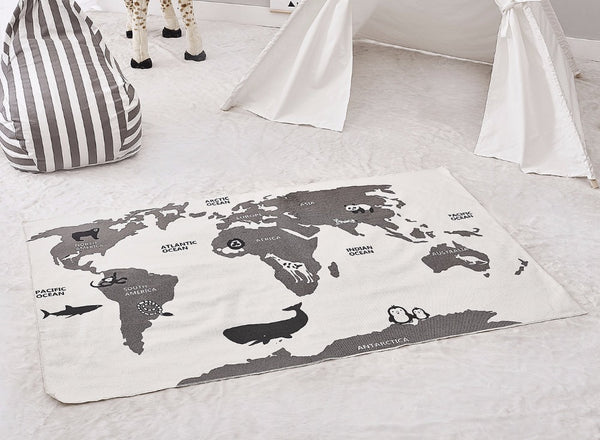 Map of the World Rug - friday kids co.