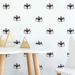 Fox with Headdress Wall Stickers