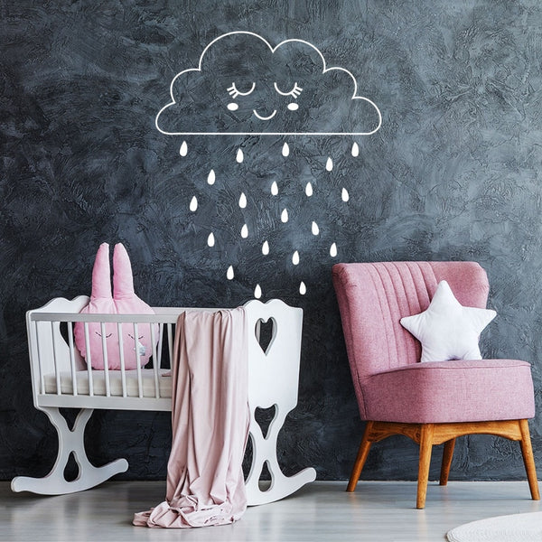 Smiley Raincloud Wall Sticker