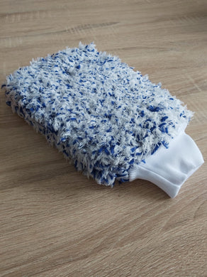 Korean Microfibre - Plush Blue (Extra Thick Korean Double Sided Wash Mitt)