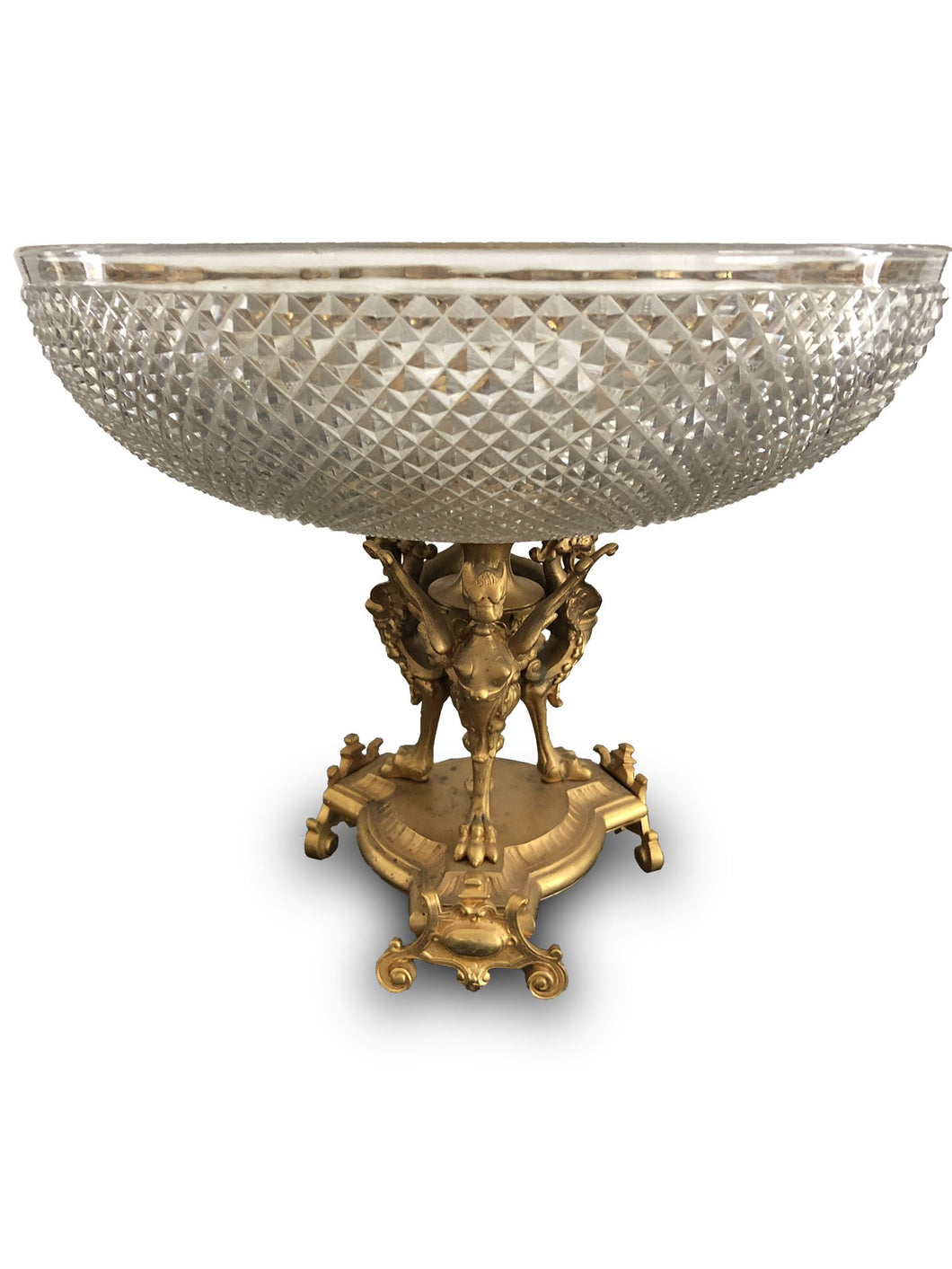 Centre de Table en Cristal d'époque Napoléon III
