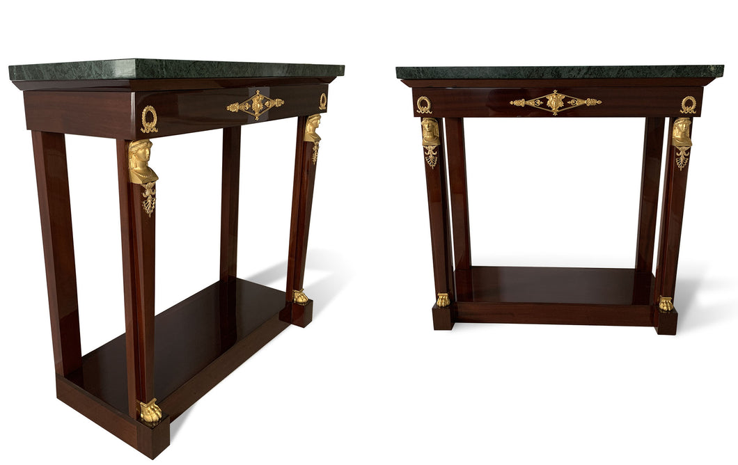 Console Empire Acajou massif - napoleon III - second empire - galerie florentine