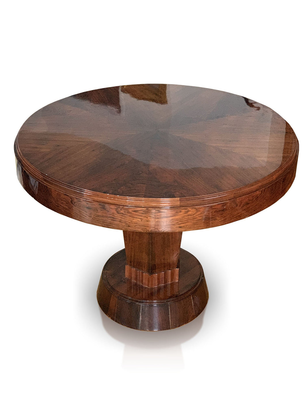 Table Basse | Table portefeuille ART-DECO en placage de ronce de noyer