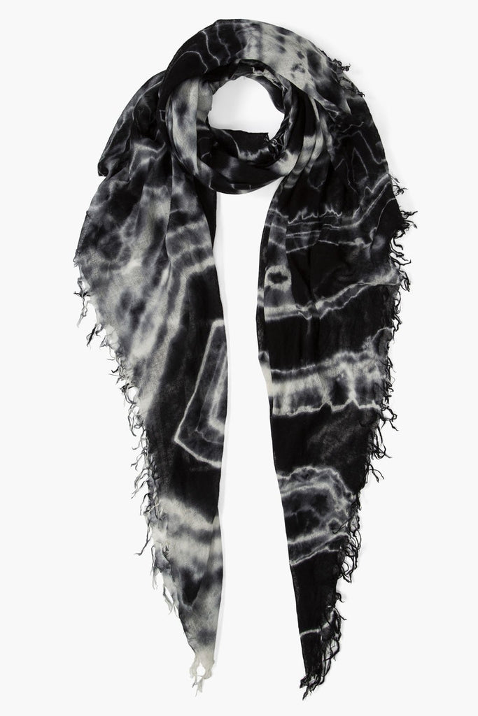 Black Tie Dye Cashmere And Silk Scarf
