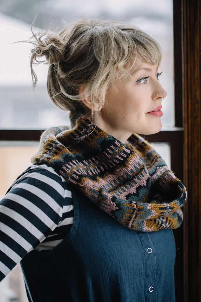Moonwake Cowl Pattern by Drea Renee Knits - theobservatory.shop Drea Renee Knits - manos