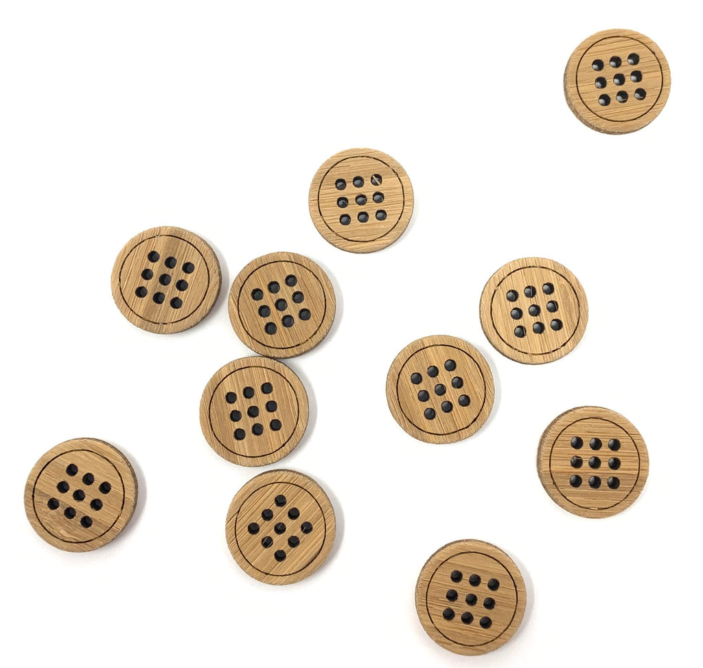 Nine Hole Buttons - theobservatory.shop Katrinkles - manos
