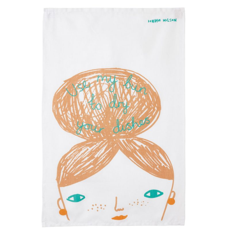 Use My Bun Tea Towel - theobservatory.shop Donna Wilson - manos