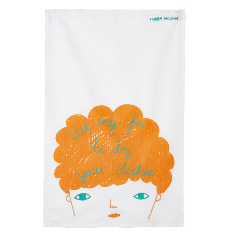 Use My Fro Tea Towel - theobservatory.shop Donna Wilson - manos