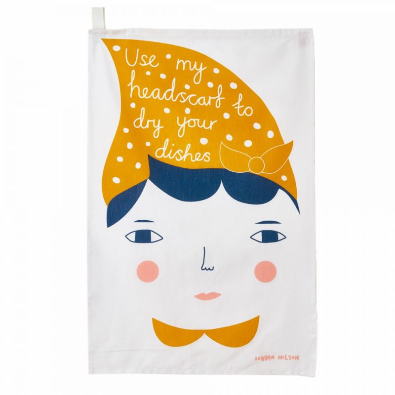 Use My Headscarf Tea Towel - theobservatory.shop Donna Wilson - manos