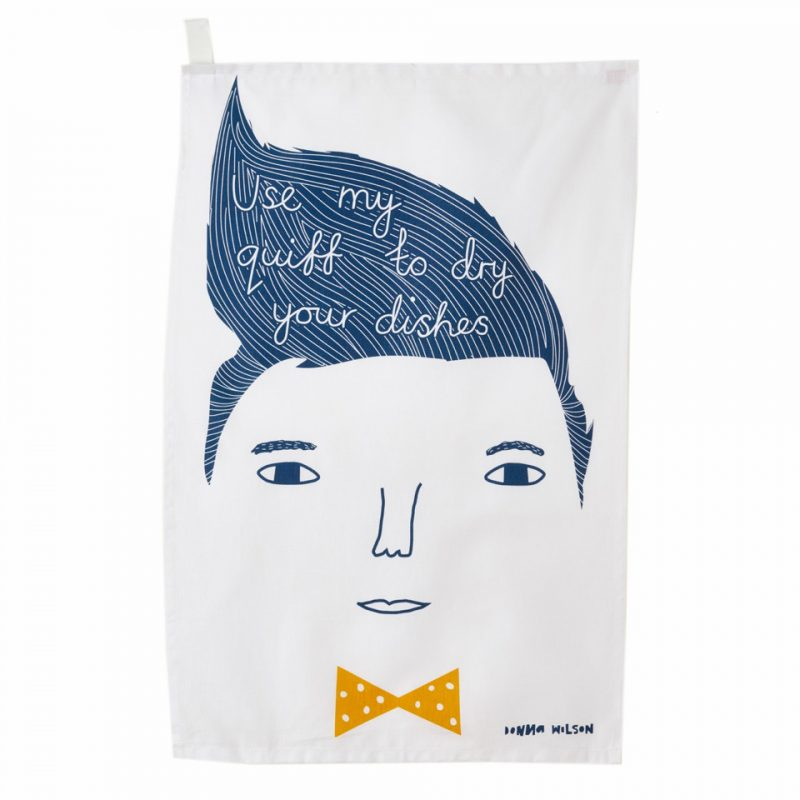 Use My Quiff Tea Towel - theobservatory.shop Donna Wilson - manos