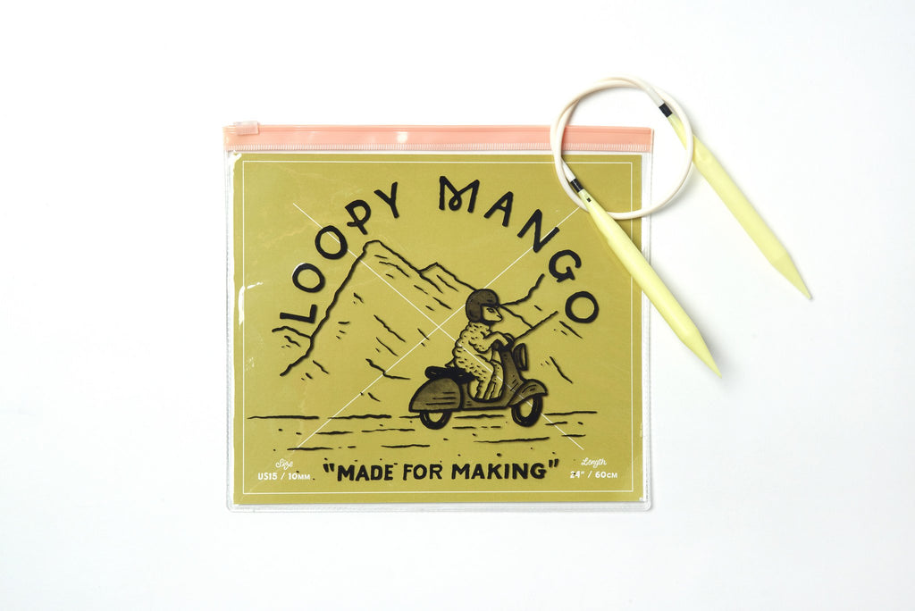 Loopy Mango Plastic size 15 Circular Knitting Needles - theobservatory.shop Loopy Mango - manos