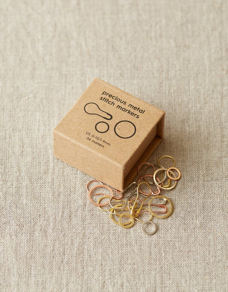 Precious Metal Stitch Markers - theobservatory.shop Cocoknits - manos