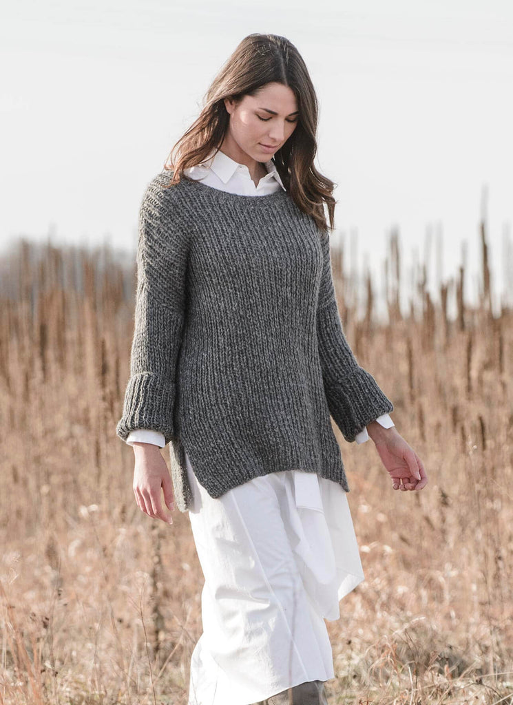 Preston Pullover Pattern - theobservatory.shop Blue Sky Fibers - manos