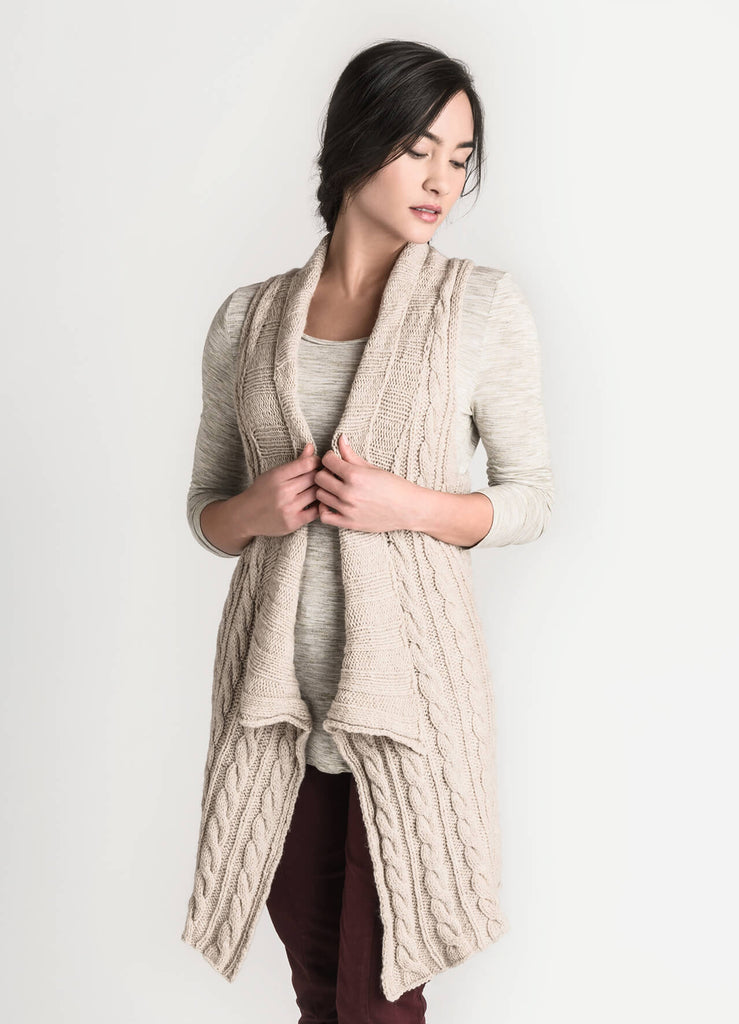 Vermillion Vest Pattern - theobservatory.shop Blue Sky Fibers - manos