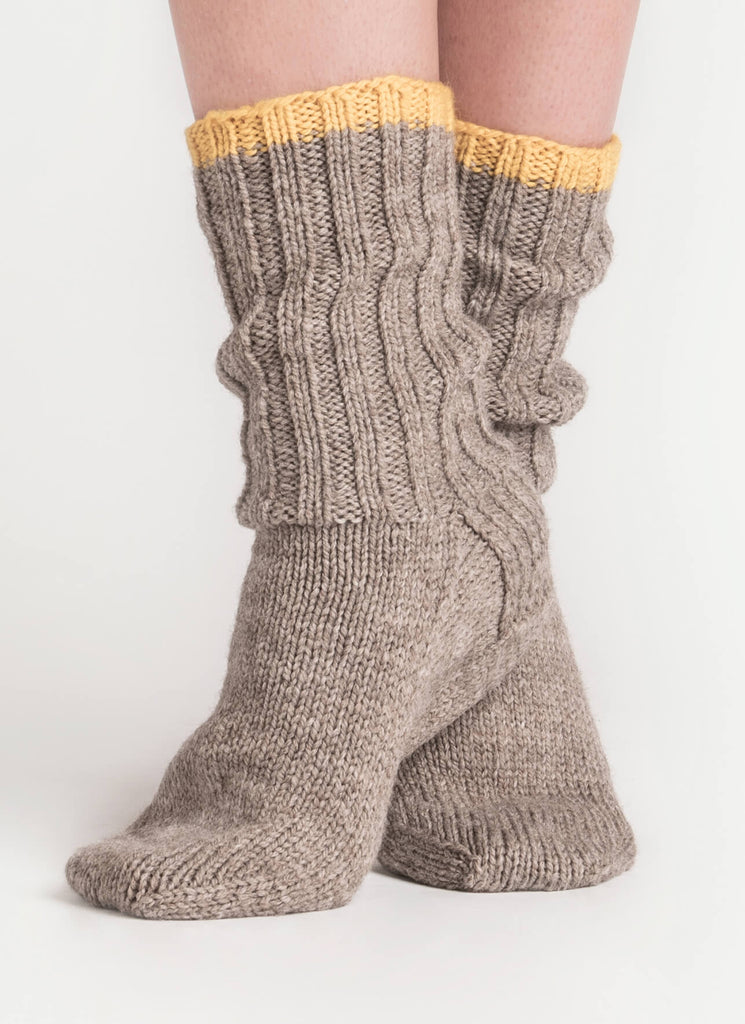 Sanborn Sock Pattern - theobservatory.shop Blue Sky Fibers - manos