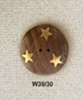 Rosewood & Brass Star 30mm Buttons - theobservatory.shop